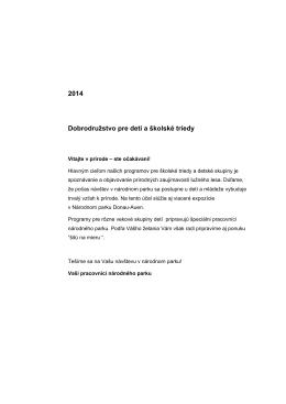 2014 Dobrodružstvo pre deti a školské triedy