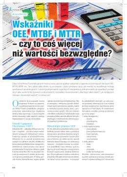 Wskaźniki OEE, MTBF i MTTR