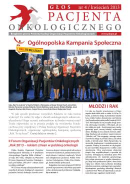 Gazeta Głos pacjenta onkologicznego nr 4