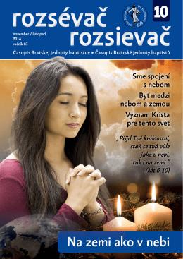 10/2014 - Bratská jednota baptistov