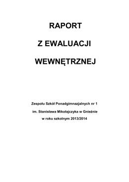 EWALUACJA ZAJĘĆ POZALEKCYJNYCH - zsp1