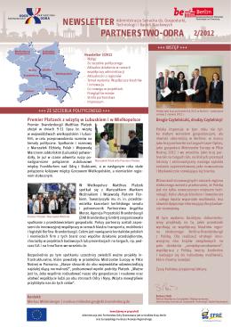 Newsletter Partnerstwo-odra - Oder