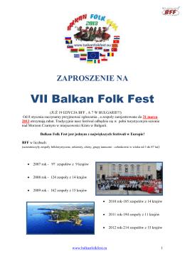 BALKAN FOLK FEST 2013