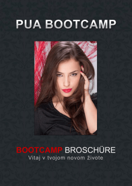BOOTCAMP BROSCHÜRE - Pick Up Artist (PUA) Training