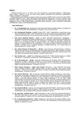 Więzieni : Żołnierze partyzanci por. cc. A. Pilcha i ppor. Zdz