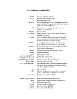Terminologický slovník AIKIDO