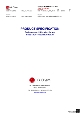 PRODUCT SPECIFICATION PRODUCT SPECIFICATION