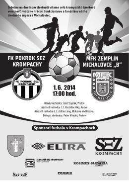 "FK POKROK SEZ KROMPACHY MFK ZEMPLÍN MICHALOVCE ""B"" 1"