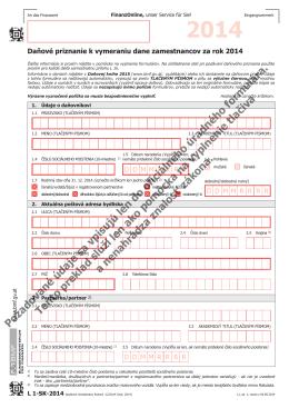 L1, Erklärung zur ArbeitnehmerInnenveranlagung 2014