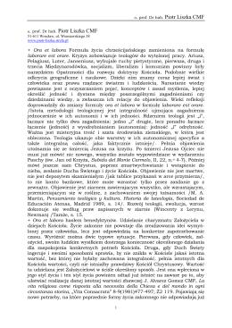 Oracja - prof. Dr hab. Piotr Liszka CMF