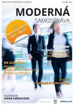 Moderná samospráva 2/2013 - Partnerstvá pre prosperitu