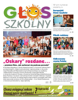 Pobierz>>> Głos Szkolny, wydany 22 października 2013r.