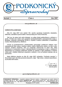 Spravodaj 6 / 2007