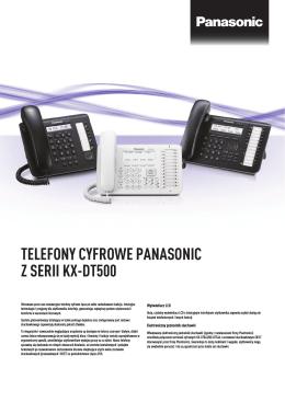TELEFONY CYFROWE PANASONIC Z SERII KX