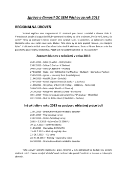 1.Zaverecna sprava OC SEM Puchov 2013