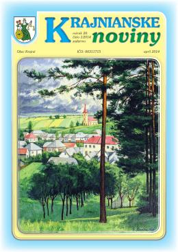 Krajnianske noviny číslo 1