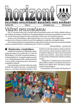 Horizont číslo 9/2014