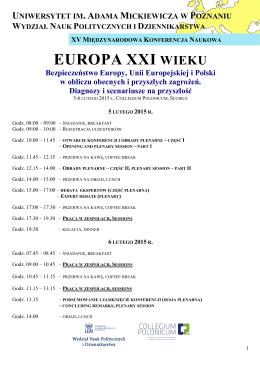 Program XV Międzynarodowej Konferencji