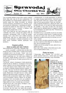 Spravodaj č. 02/2013