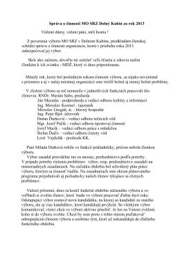 Správa o činnosti MO SRZ Dolný Kubín za rok 2013 . pdf