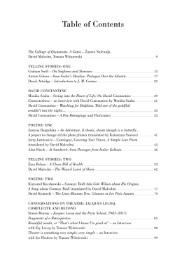 Almanach - Table of Contents