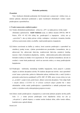 Obchodné podmienky na stiahnutie - PDF.