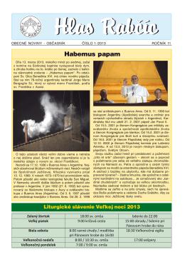 Obecné noviny 1/2013
