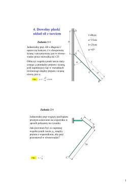 4. Dowolny płaski układ sił z tarciem