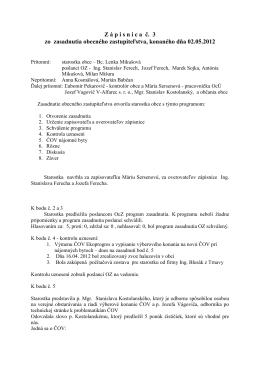 Zápisnica OZ 02 05 2012