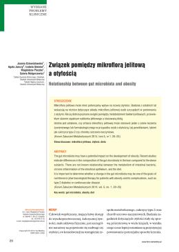 Związek pomiędzy mikroflorą jelitową a otyłością