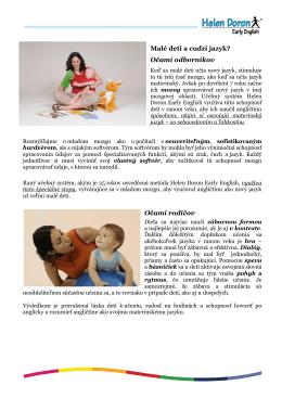 Malé deti a cudzí jazyk? Očami odborníkov Očami