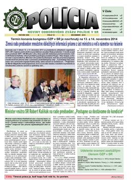 polícia 12/13 - Odborový zväz polície v Slovenskej republike