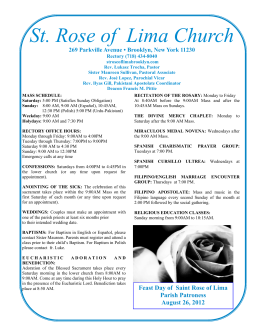 August 26 - St. Rose of Lima