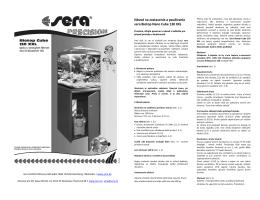 Návod na zostavenie a používanie sera Biotop Nano Cube 130 XXL