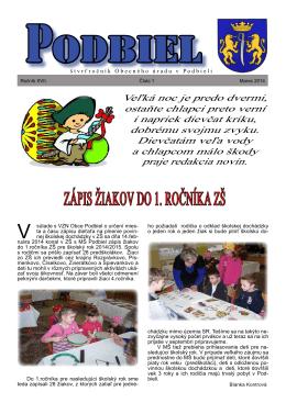 2014-1 - Obec Podbiel