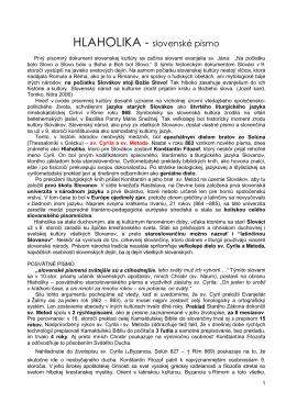 PDF verzia - Hlaholika.sk