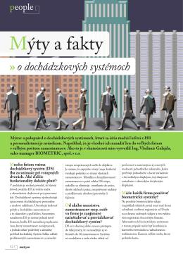 Mýty a fakty - Biometric, spol. s r. o.