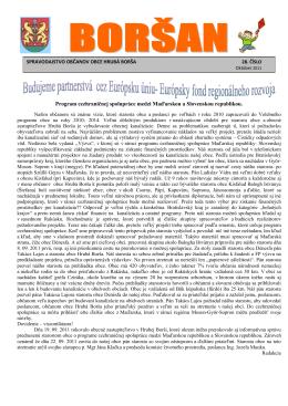 Program cezhraničnej spolupráce medzi Maďarskou a Slovenskou