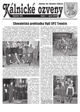 Chovateľská prehliadka RgO SPZ Trenčín