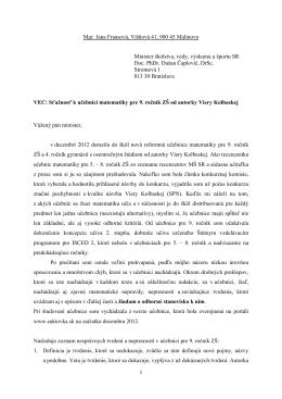 15-stranový zoznam chýb