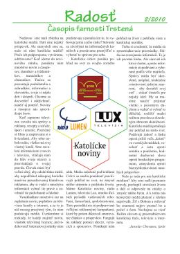Farský časopis Radosť 2/2010