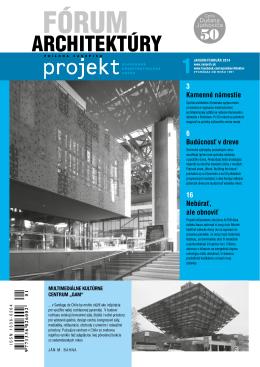 Fórum architektúry 1-2014.pdf - Spolok architektov Slovenska