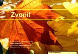 ZVONÍ jeseň 2012 - ZŠ Nábrežná 95 | Nové Zámky