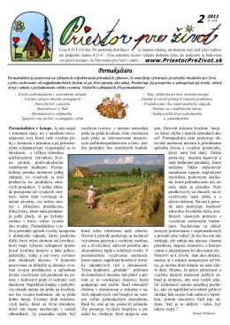 Stiahnuť PDF súbor - Priestor pre život
