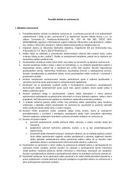 podmienkami používania - Úschovňa.sk