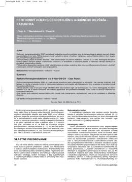retiformný hemangioendotelióm u 8