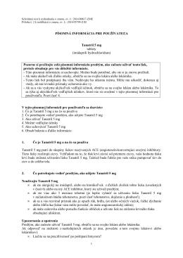 Tanatril 5 mg PIL