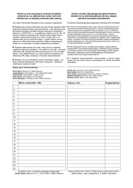 Petíció - szmpsz