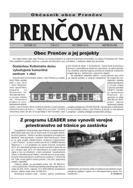 Noviny Prenčovan č. 2/2013