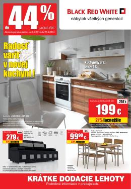 akcia jar 2014 - nábytok Black Red White kuchyne na mieru Poprad